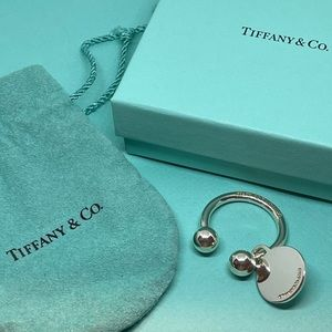 Tiffany & Co. ~ Round Tag Key Ring - Small